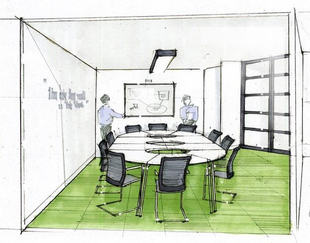 Artists impression of a classroom
