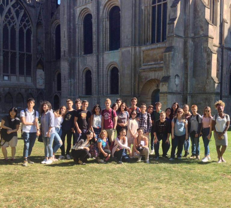 Bell Cambridge students on a visit to Ely cathedral