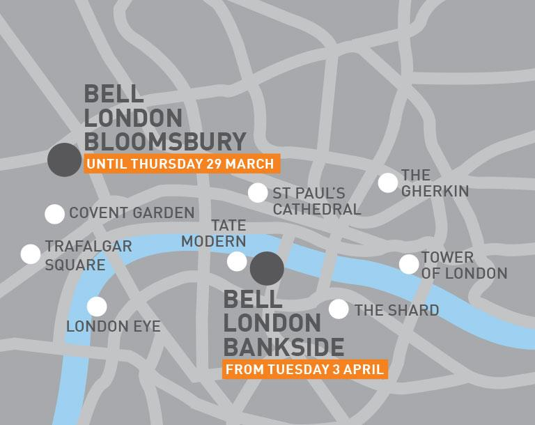 Bell London map