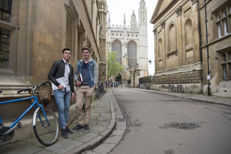 Bell University Pathways students outside the University of Cambridge