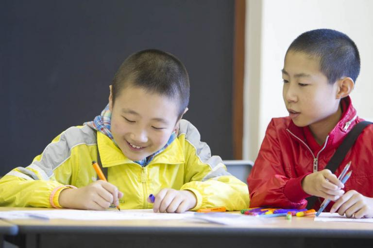 Bell juniors studying in a classroom