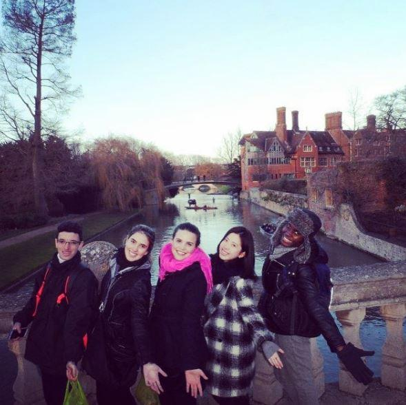 London students visiting Cambridge