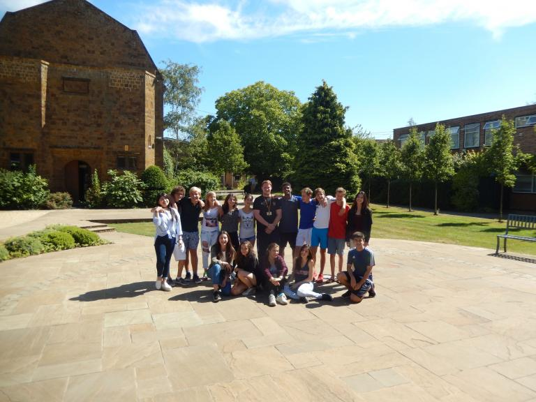 Students and their activity director, Dave, at Bloxham School
