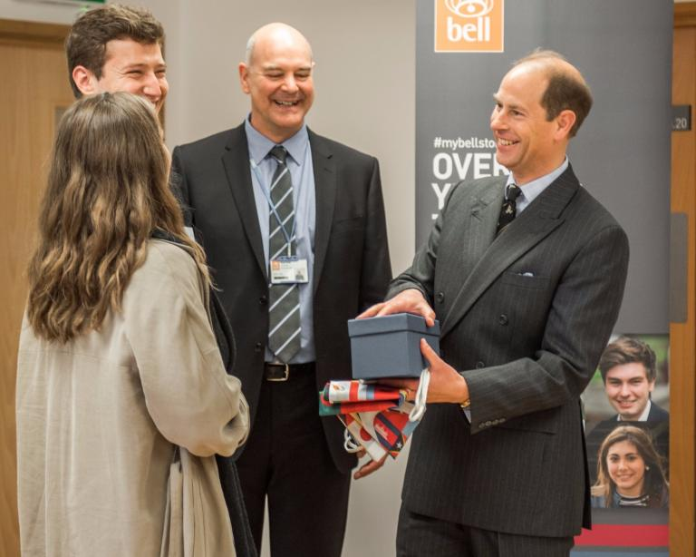 HRH The Prince Edward, Earl of Wessex visits Bell Cambridge.