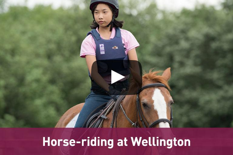 Horse-riding at Wellington Academy