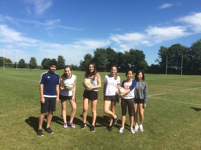 Students playing British Sports at Bloxham