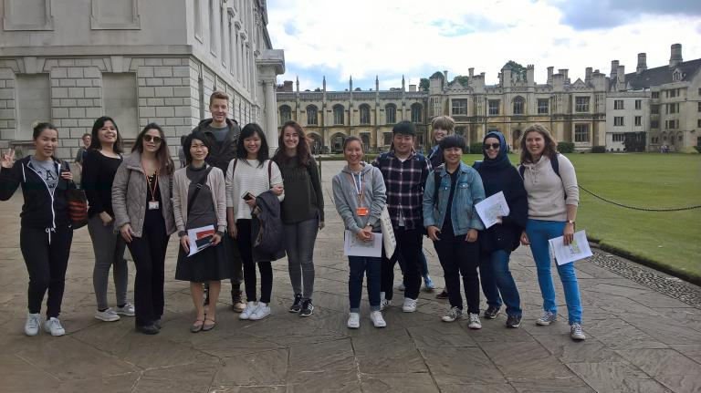Bell Cambridge students visiting King's College.