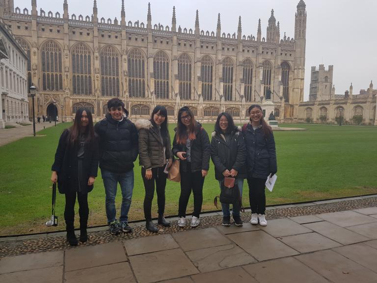 Bell Cambridge students visit King's College, Cambridge. Social Programme.