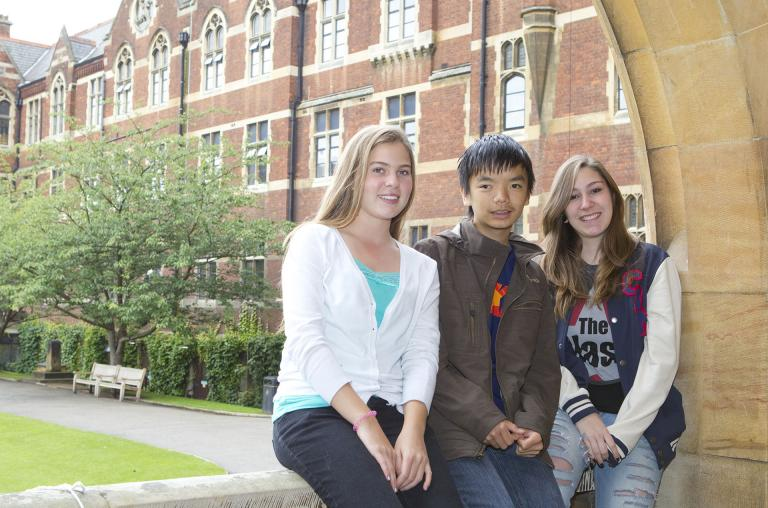 Students at The Leys