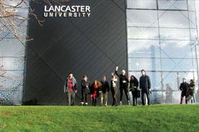 Bell students on a visit to Lancaster University