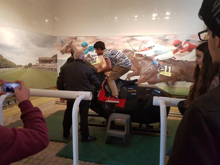 Experiencing life as jockey at the National Horseracing Museum in Newmarket