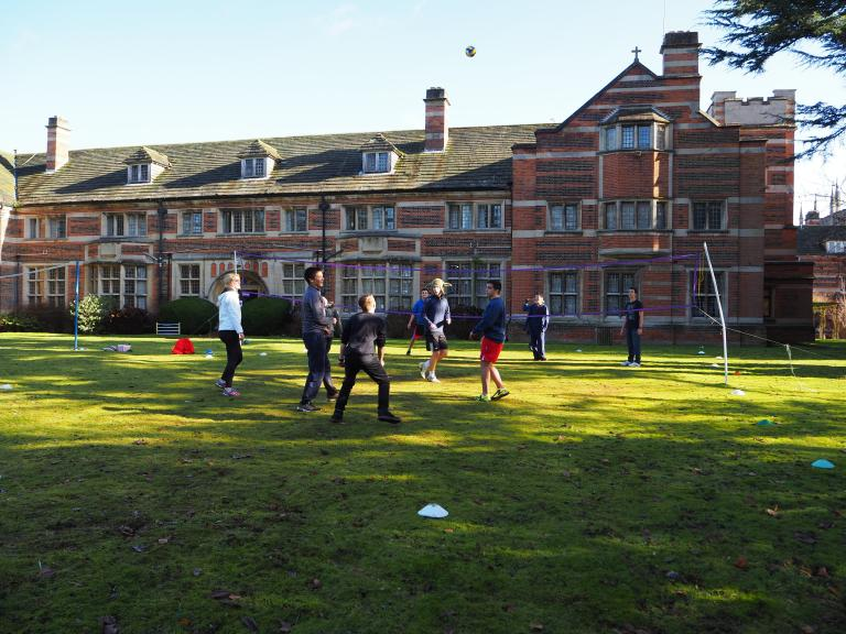Students playing outside St Albans