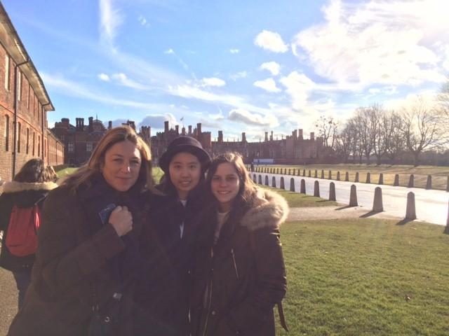 Visiting Hampton Court Palace, once home to Henry VIII