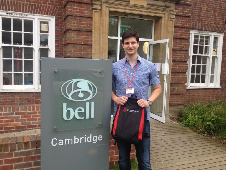 Sandro returning to Bell Cambridge for a visit