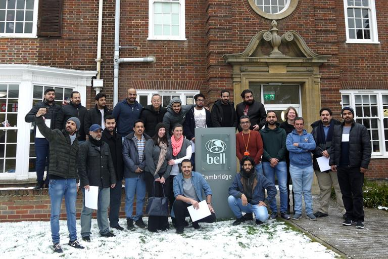 Saudi group graduation at Bell Cambridge on 2 March 2018
