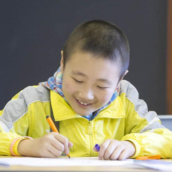 Young learner studying in China