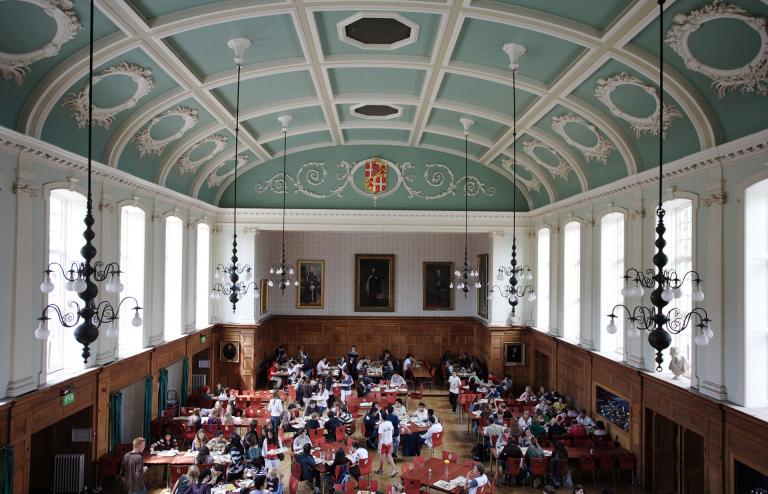 Wellington College dining room