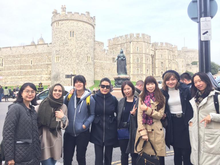 Our London students learning about the royal family at Windsor Castle