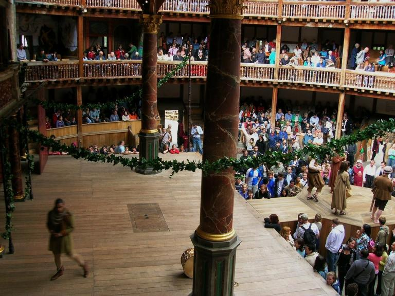 Aerial shot of the Globe Theatre