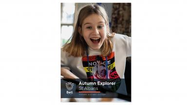 Excited child at Autumn Explorer