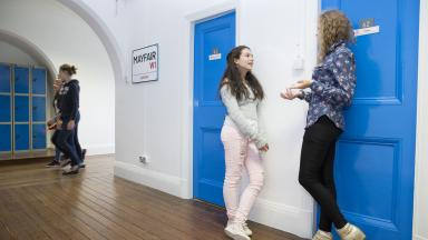 Young learners in the accommodation at St Albans