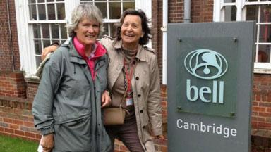 Dorothee and Cathy who studied at Bell Cambridge in 1969.