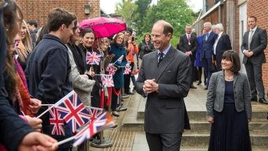 HRH, The Prince Edward, Earl of Wessex visits Bell Cambridge