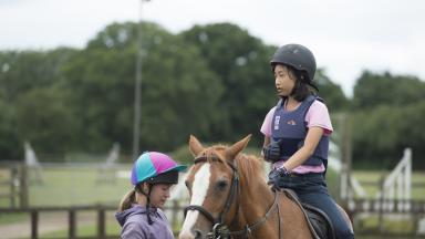 Bell student on our horse-riding academy at Wellington College