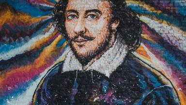Grafitti painting of Shakespeare