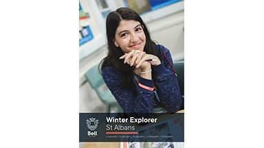 Front page of Winter Explorer Leaflet