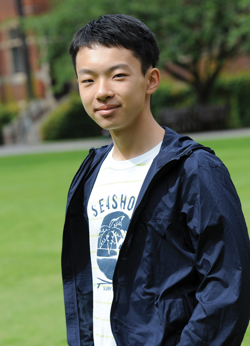 Bell student Koki from Japan at The Leys School